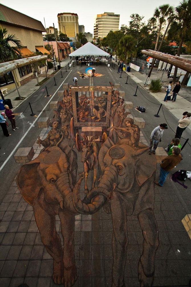 Fresca pe asfalt in 3D, de Kurt Wenner - Poza 1