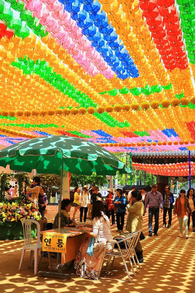Lampioane colorate in Coreea, de ziua lui Buddha - Poza 4