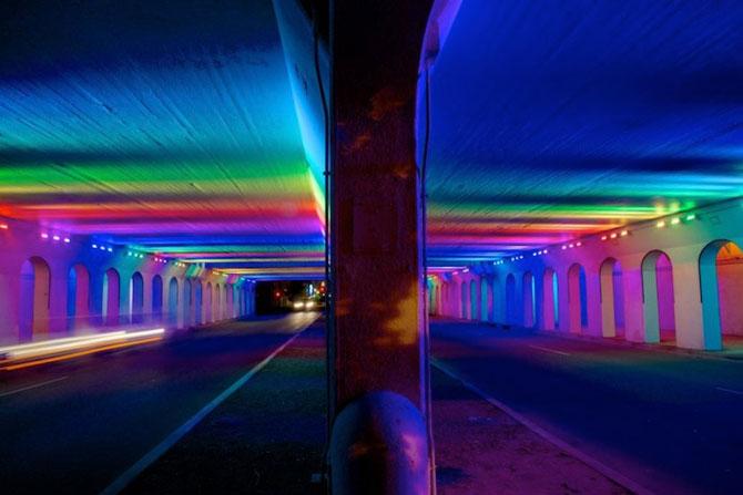 Milioane de culori intr-un pasaj din Birmingham - Poza 2