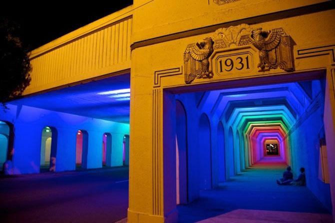 Milioane de culori intr-un pasaj din Birmingham - Poza 3