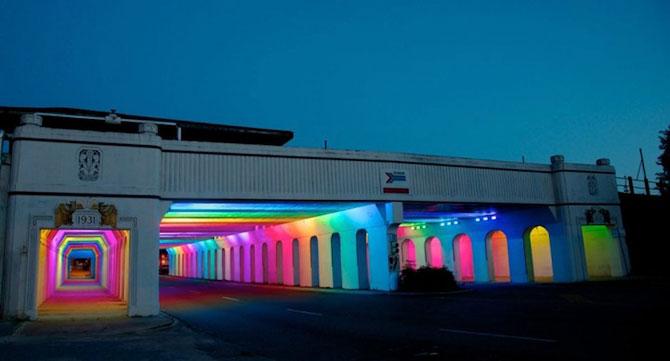 Milioane de culori intr-un pasaj din Birmingham - Poza 5