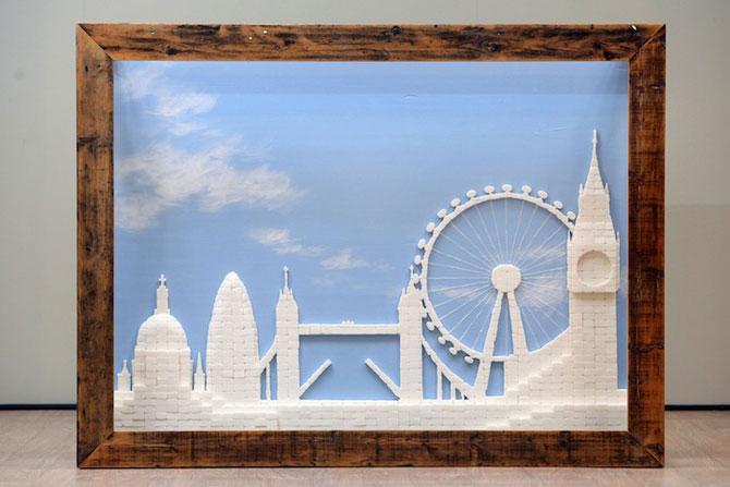 Orizontul Londrei, sculptat in zahar - Poza 2
