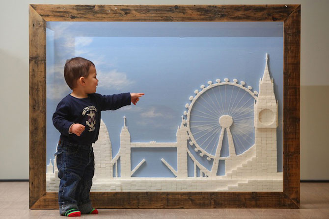 Orizontul Londrei, sculptat in zahar - Poza 3