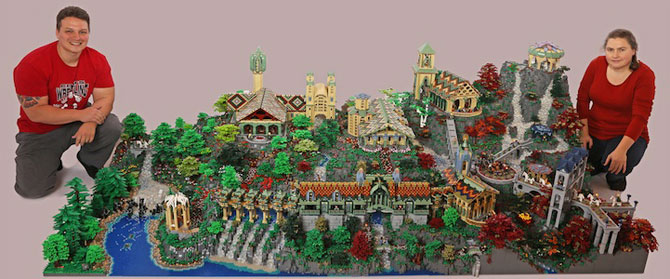 Rivendell din Lord of the Rings, din 200,000 de piese LEGO