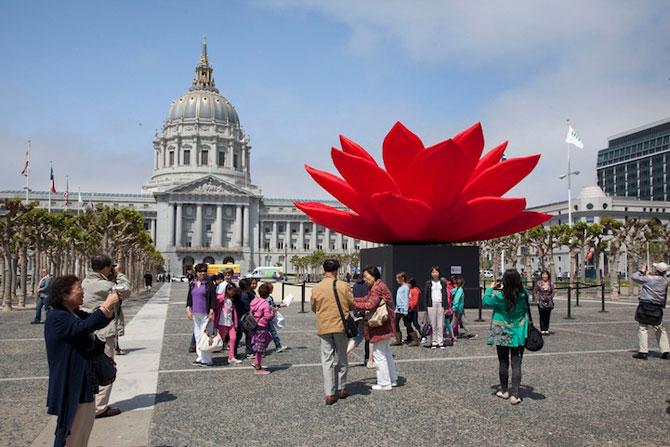Lotusul rosu care respira, de Choi Jeong-Hwa - Poza 3