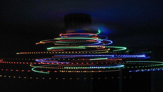Craciun creativ: luminite pe ventilator - Poza 3