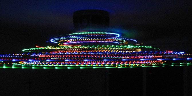 Craciun creativ: luminite pe ventilator - Poza 4