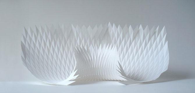 Matthew Shlian sculpteaza mirat in hartie - Poza 1