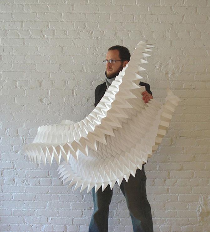Matthew Shlian sculpteaza mirat in hartie - Poza 4