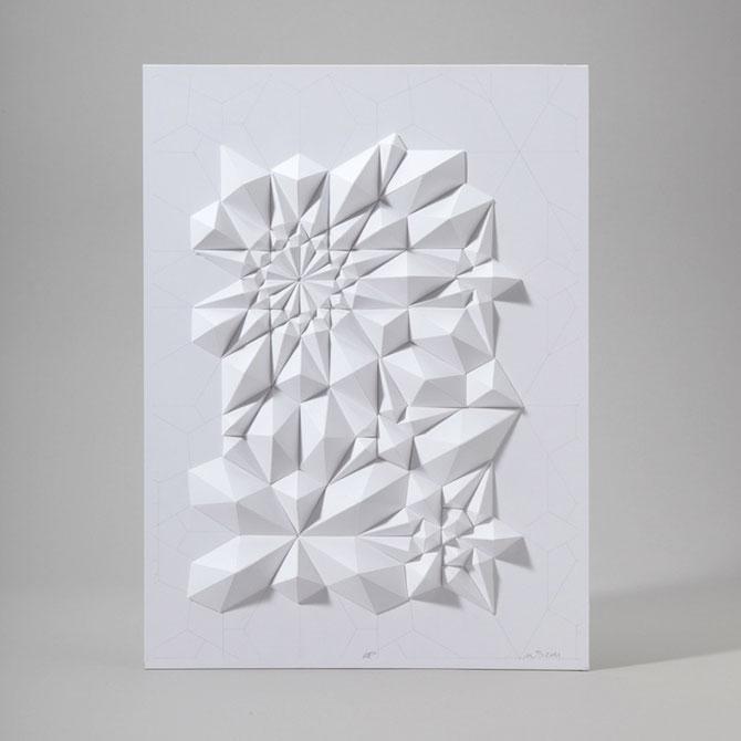 Matthew Shlian sculpteaza mirat in hartie - Poza 8