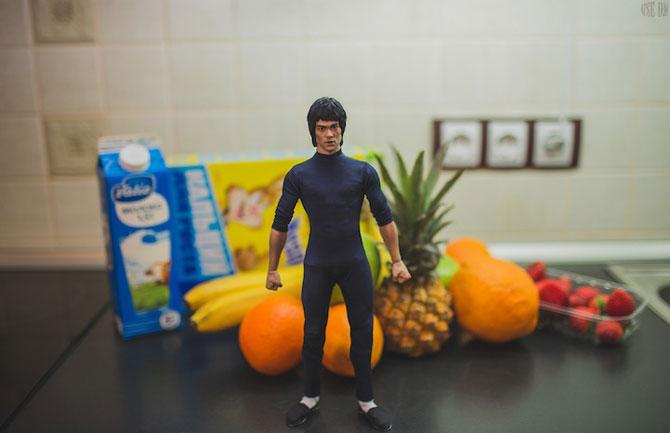 Bruce Lee pregateste un mic-dejun sanatos - Poza 2