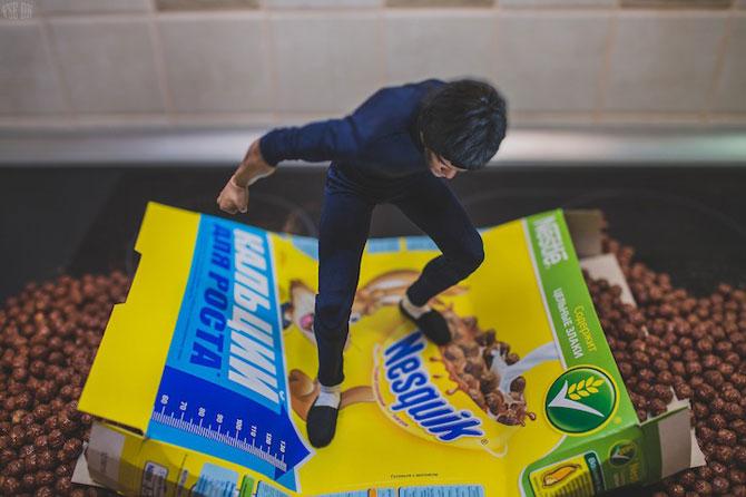 Bruce Lee pregateste un mic-dejun sanatos - Poza 6