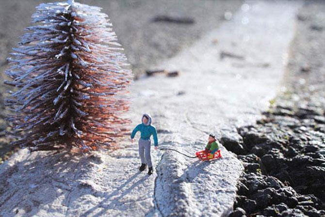 Atentie unde calci! Slinkachu invadeaza Londra - Poza 5