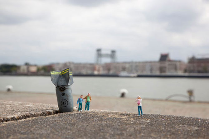 Atentie unde calci! Slinkachu invadeaza Londra - Poza 6