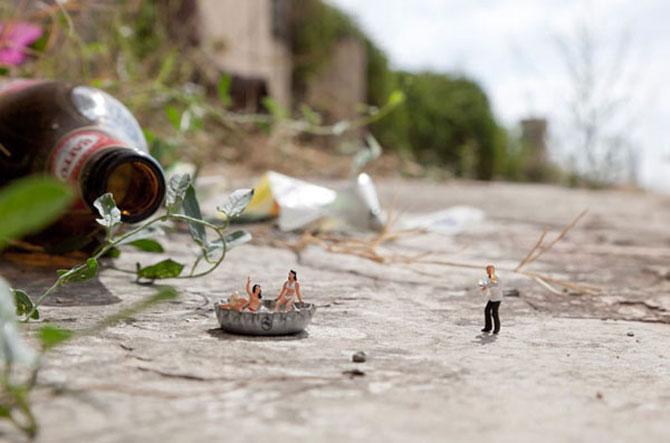 Atentie unde calci! Slinkachu invadeaza Londra - Poza 9