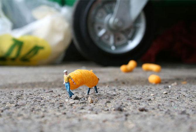 Atentie unde calci! Slinkachu invadeaza Londra - Poza 15