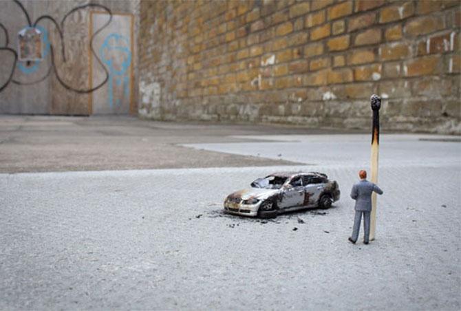 Atentie unde calci! Slinkachu invadeaza Londra - Poza 20