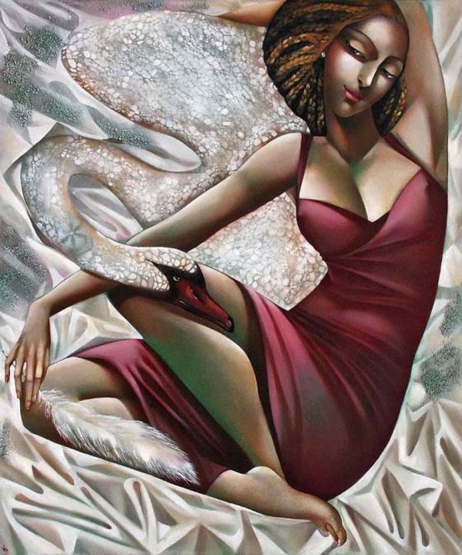 Femeile fatale pictate de Ira Tsantekidou - Poza 3