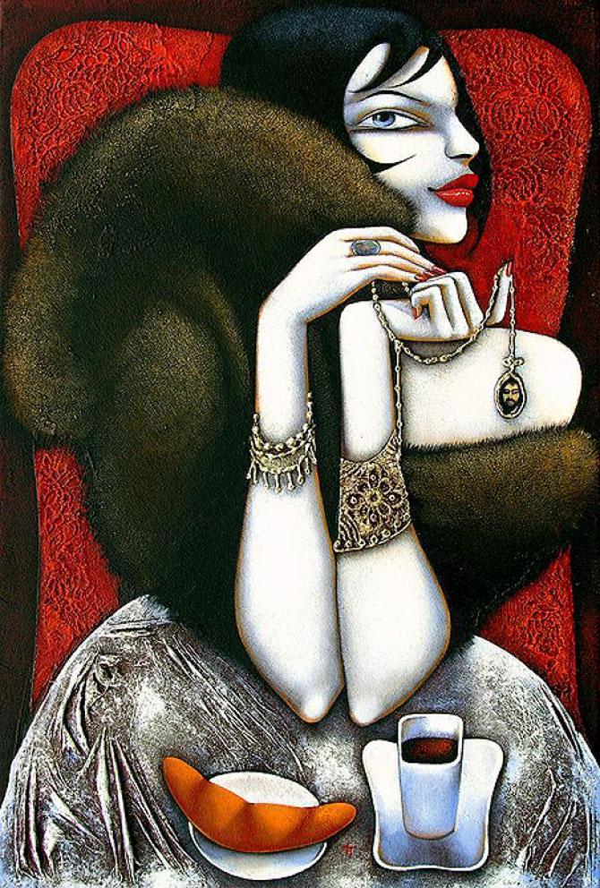 Femeile fatale pictate de Ira Tsantekidou - Poza 7