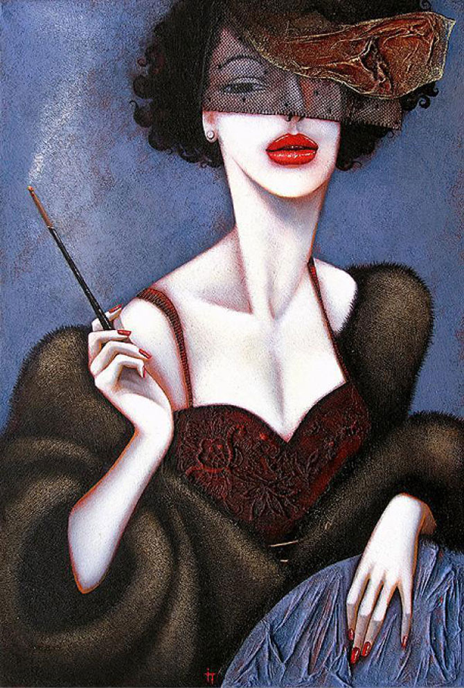 Femeile fatale pictate de Ira Tsantekidou - Poza 8