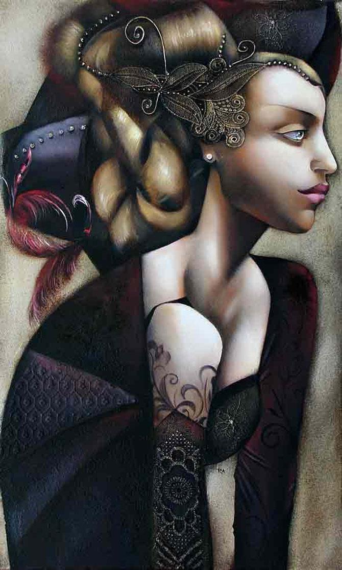 Femeile fatale pictate de Ira Tsantekidou - Poza 12