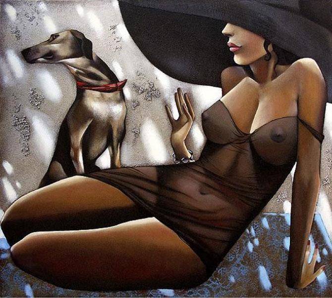 Femeile fatale pictate de Ira Tsantekidou - Poza 13