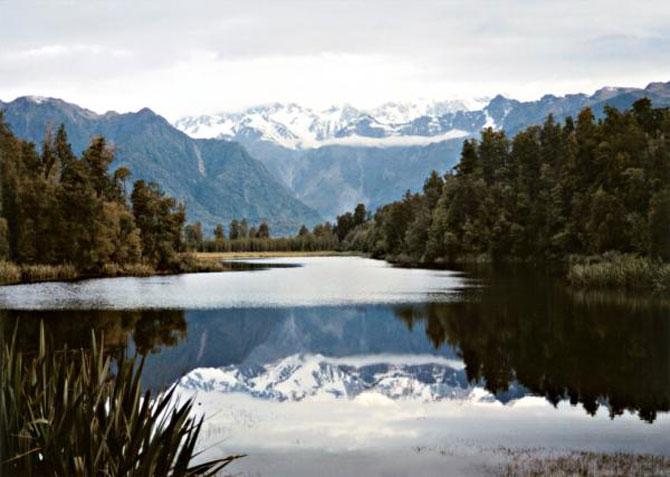 Lacul-oglinda din Noua Zeelanda
