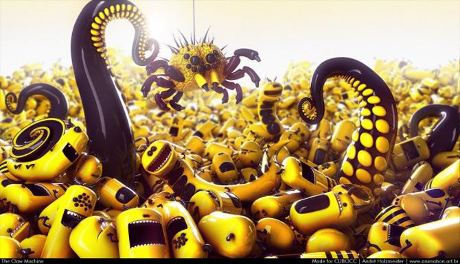 Imaginatia lui Andre Holzmeister naste monstri (3D!) - Poza 3