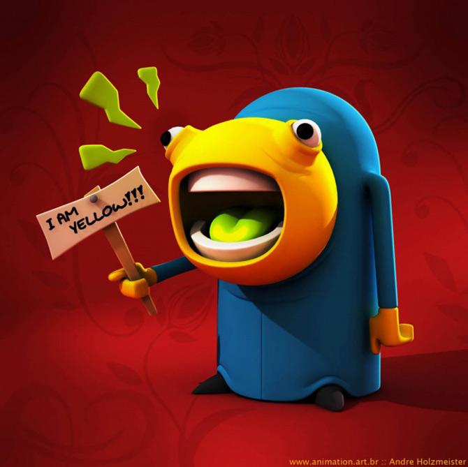 Imaginatia lui Andre Holzmeister naste monstri (3D!) - Poza 19