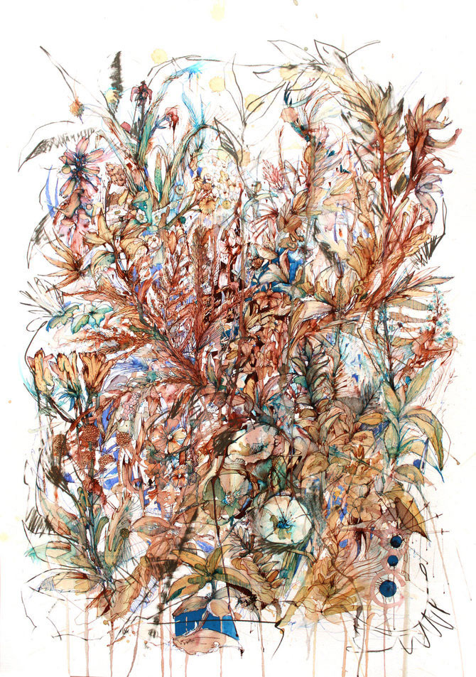 Flori, fete in culori naturale, de Carne Griffiths - Poza 2