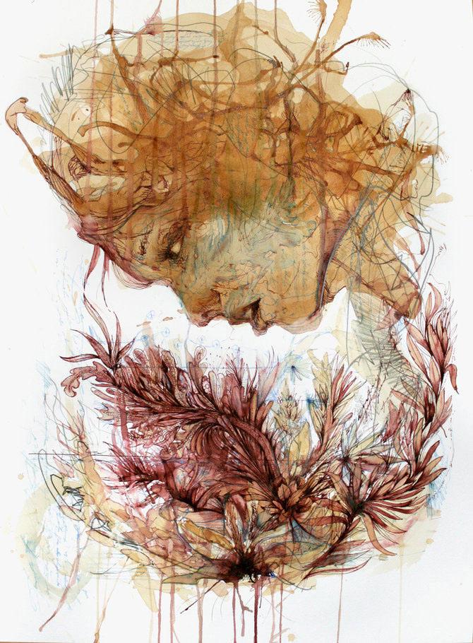 Flori, fete in culori naturale, de Carne Griffiths - Poza 4