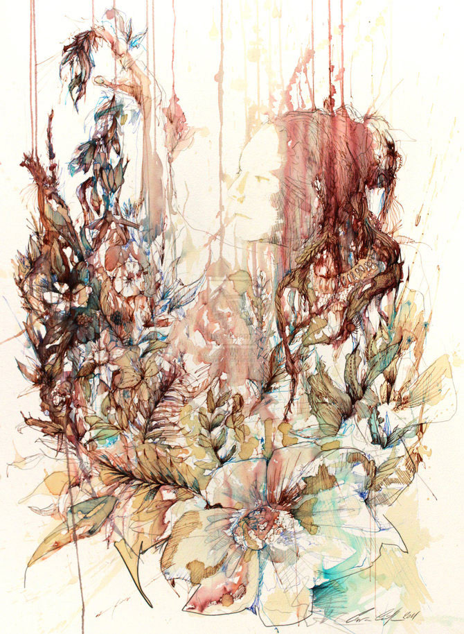 Flori, fete in culori naturale, de Carne Griffiths - Poza 5