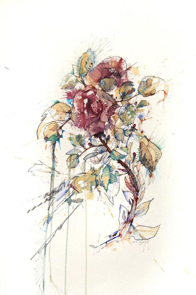 Flori, fete in culori naturale, de Carne Griffiths - Poza 8