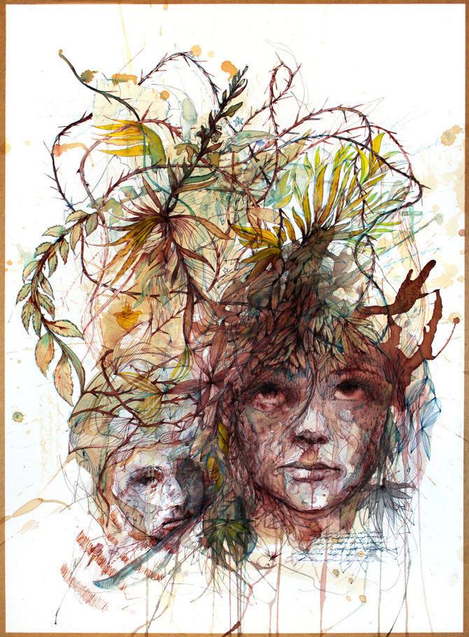 Flori, fete in culori naturale, de Carne Griffiths - Poza 9