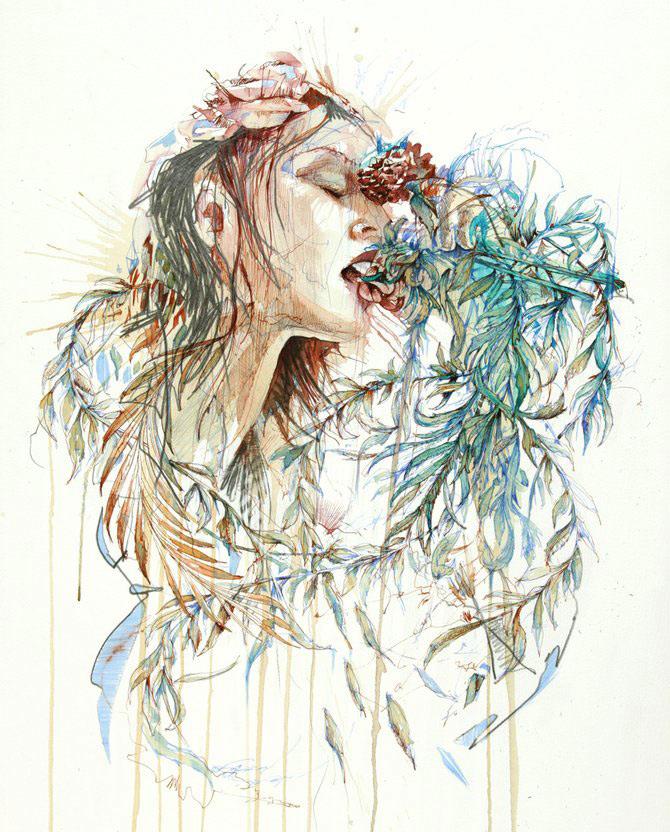 Flori, fete in culori naturale, de Carne Griffiths - Poza 11