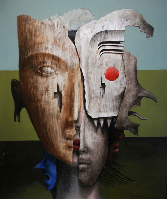 Mastile de sub masca, pictate de Fabien Delaube - Poza 1