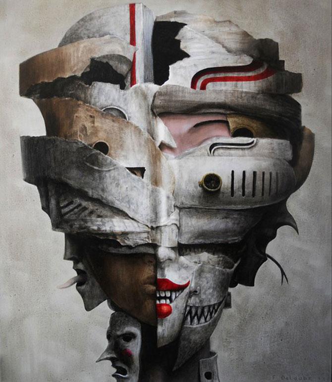Mastile de sub masca, pictate de Fabien Delaube - Poza 2
