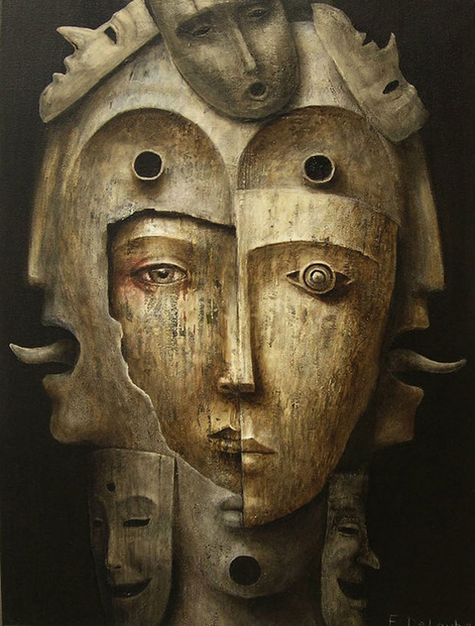 Mastile de sub masca, pictate de Fabien Delaube - Poza 3