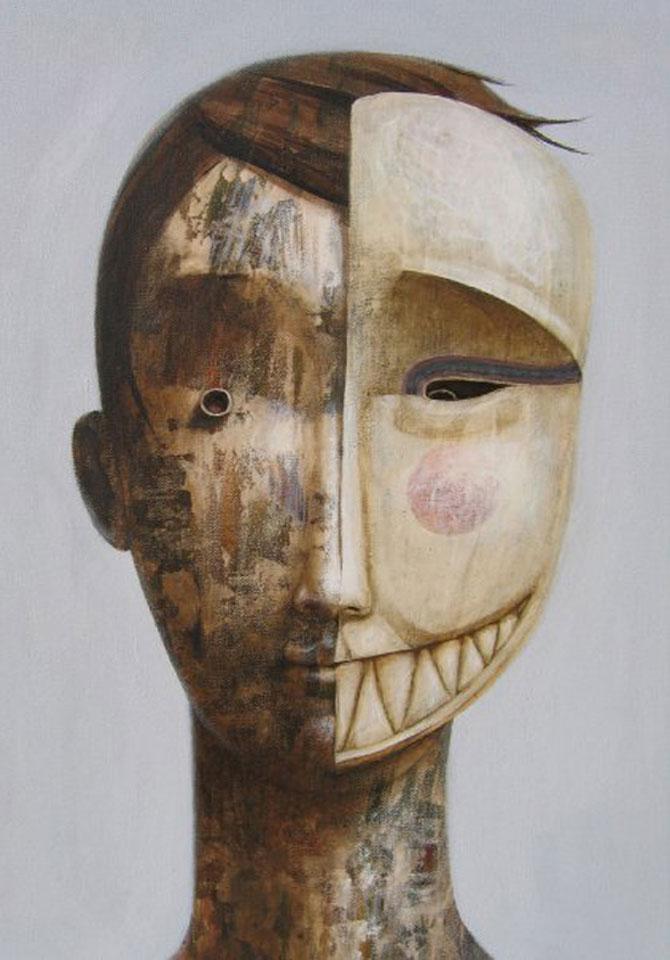 Mastile de sub masca, pictate de Fabien Delaube - Poza 4