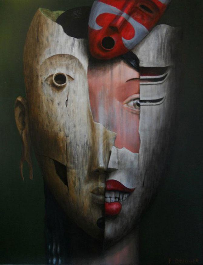 Mastile de sub masca, pictate de Fabien Delaube - Poza 5
