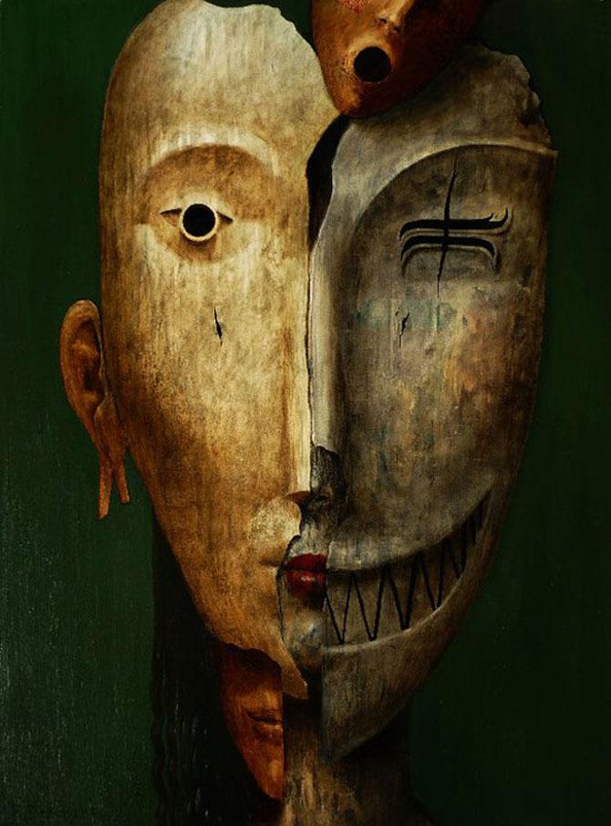 Mastile de sub masca, pictate de Fabien Delaube - Poza 7