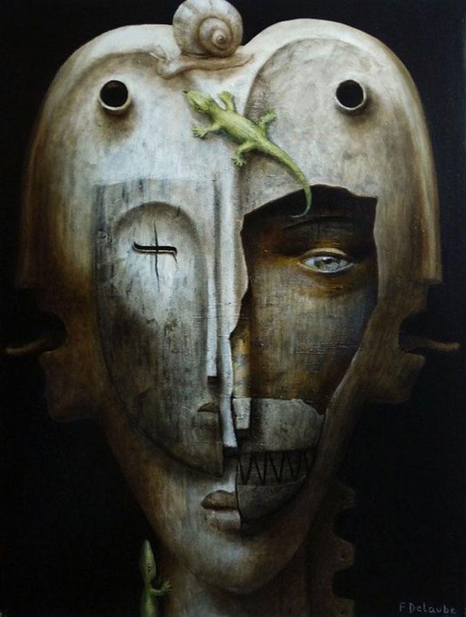 Mastile de sub masca, pictate de Fabien Delaube - Poza 8