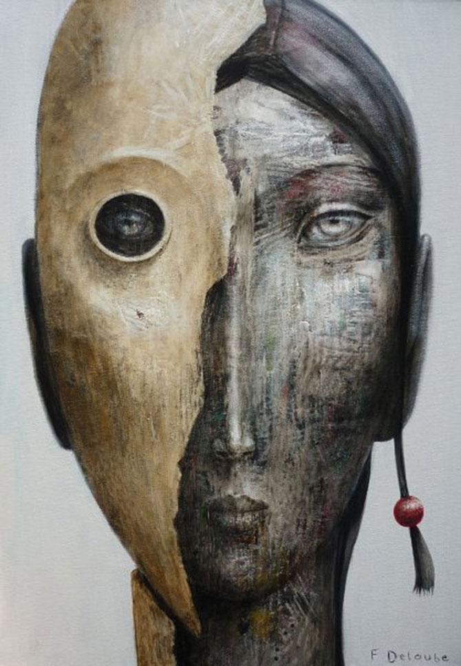 Mastile de sub masca, pictate de Fabien Delaube - Poza 9