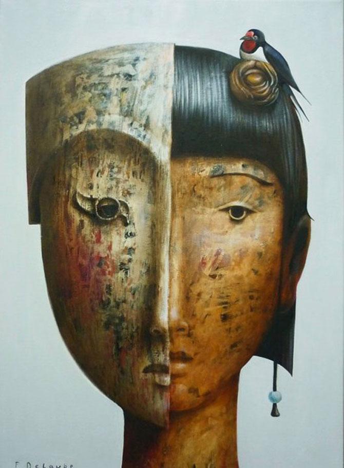Mastile de sub masca, pictate de Fabien Delaube - Poza 10