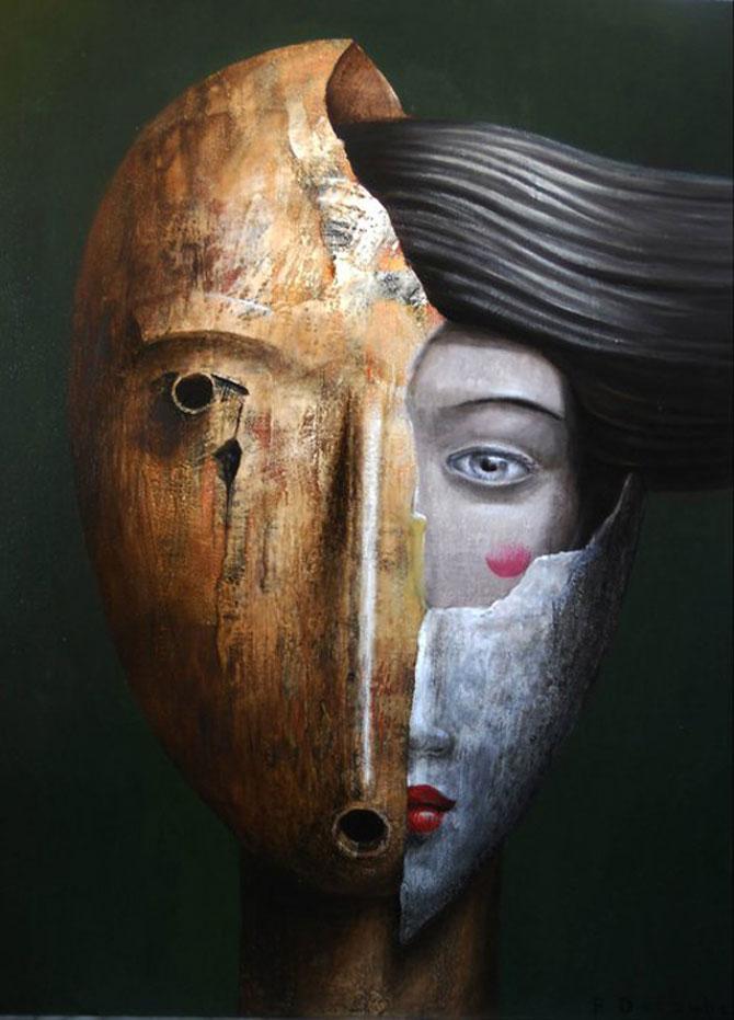 Mastile de sub masca, pictate de Fabien Delaube - Poza 11