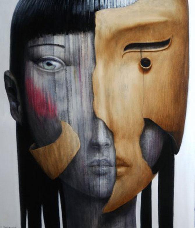 Mastile de sub masca, pictate de Fabien Delaube - Poza 12