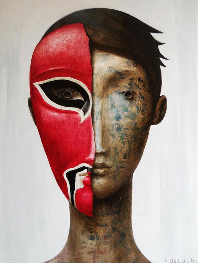Mastile de sub masca, pictate de Fabien Delaube - Poza 13