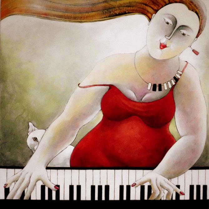 Pisici, femei in stil cubist, cu Carla Raadsveld - Poza 1