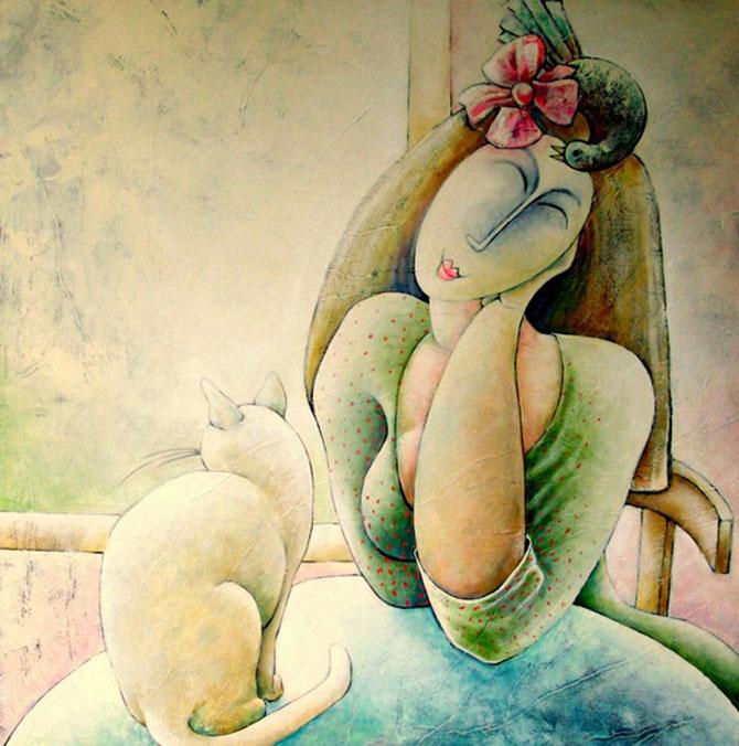 Pisici, femei in stil cubist, cu Carla Raadsveld - Poza 2