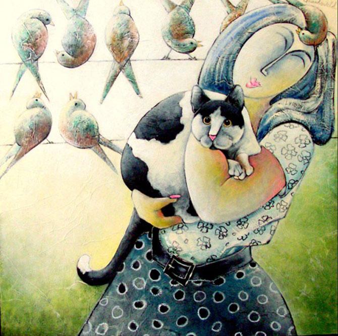 Pisici, femei in stil cubist, cu Carla Raadsveld - Poza 3